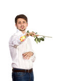 Man with rose Royalty Free Stock Images