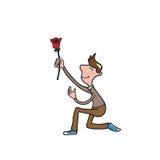 man rose love Stock Photo