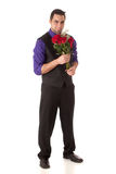 Man with Roses Stock Photos