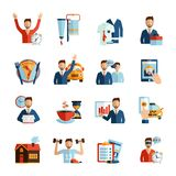 Man Daily Routine Icons Royalty Free Stock Photo