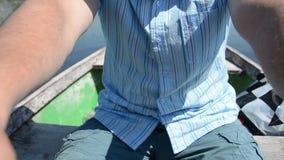 Man rowing Stock Photos
