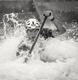 Man Rowing in Water Stock Photos