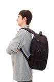 Man with a rucksack Stock Images