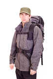 Man with a rucksack Royalty Free Stock Image