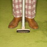 man rug vacuuming Στοκ εικόνες με δικαίωμα ελεύθερης χρήσης