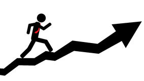Man run on arrow Royalty Free Stock Images