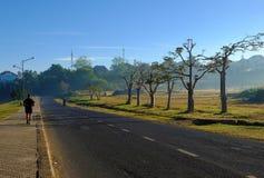 Man run in beautiful landscape Royalty Free Stock Photo