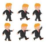 Man  Run Walk Funny Cartoon Set Vector Royalty Free Stock Images