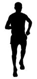 Man runner athlete. Running marathon vector illustration stock illustration