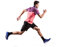 Man runner jogger running isolated Royalty Free Stock Images