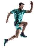 Man runner jogger running  isolated Stock Photos