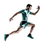 Man runner jogger running isolated royalty free stock photo