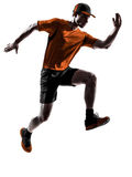 Man runner jogger running jogging jumping Royalty Free Stock Photo