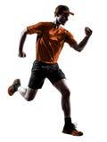 Man runner jogger running jogging jumping Stock Photography