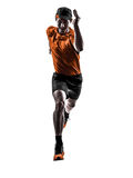 Man runner jogger running jogging silhouette Royalty Free Stock Photo