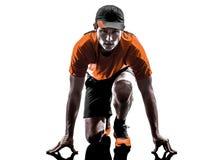 Man runner jogger silhouette Stock Images