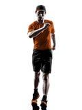 Man runner jogger silhouette Stock Photos