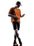Man runner jogger smartphones headphones Stock Image