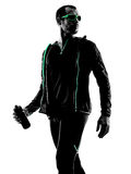 Man runner portrait jogger silhouette Royalty Free Stock Photography