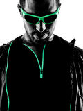 Man runner portrait jogger silhouette Stock Photo