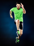Man runner running jogger jogging isolated royalty free stock images