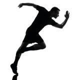 Man runner running silhouette Stock Image