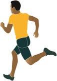 Man runner running sprinter. South African coloured silhouette vector illustration