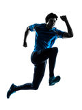Man runner sprinter jogger silhouette Stock Photography