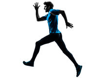Man runner sprinter jogger silhouette Royalty Free Stock Images