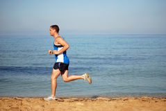 Man running royalty free stock images