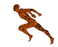 Man running Stock Images