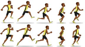 Man Running Animation royalty free stock photo
