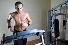 Man Running At Gym Stock Images