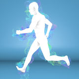 Man running with aura Stock Photography