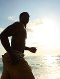 Man Running On The Beach Royalty Free Stock Image