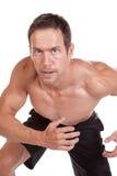 Man running close up Stock Images