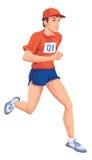 Man, Running, Color Illustration Royalty Free Stock Photo