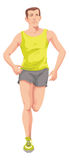 Man, Running, Color Illustration Royalty Free Stock Photography