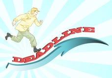 Man running for deadline Royalty Free Stock Image
