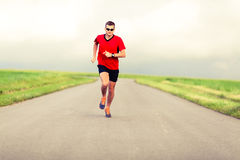 Man running and exercising healthy lifestyle Stock Images