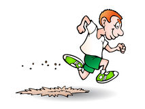Man running fast Stock Photography