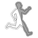 Man running fitness. Icon vector illustration graphic design Stock Photo