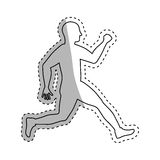 Man running fitness. Icon vector illustration graphic design Stock Photos