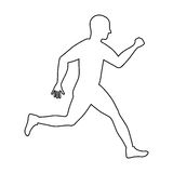 Man running fitness. Icon vector illustration graphic design Royalty Free Stock Photography