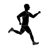 Man running fitness. Icon vector illustration graphic design Royalty Free Stock Images