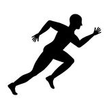 Man running fitness. Icon vector illustration graphic design Stock Image