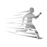 Man running fitness. Icon vector illustration graphic design Royalty Free Stock Photo