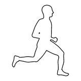 Man running fitness. Icon vector illustration graphic design Royalty Free Stock Image