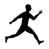 Man running fitness. Icon vector illustration graphic design Stock Photography