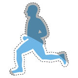 Man running fitness. Icon vector illustration graphic design Royalty Free Stock Photos